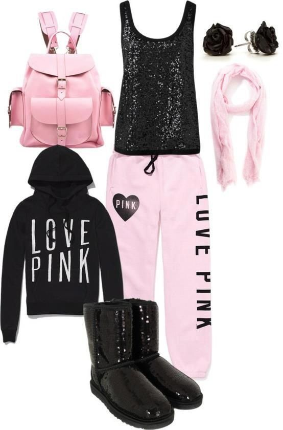 Such a cute lazy day outfit for school,,,, only if my high school dress code wasn't do stupid and allowed sweatpants!!!!