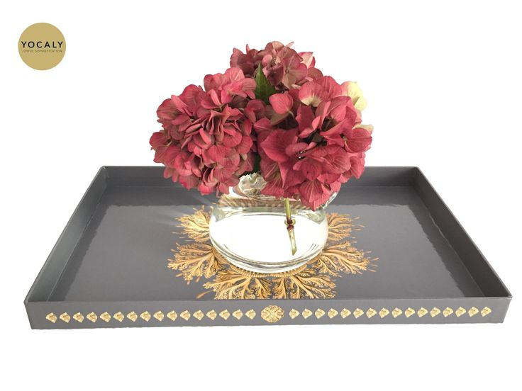 Combine A Tray And Flowers To A Simple Yet Elegant Centerpiece ... . SHOP