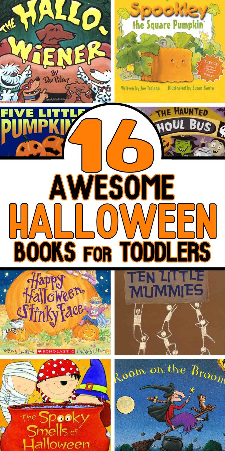 16 Perfect Halloween Books for Toddlers - Is your favorite Halloween book on the list?