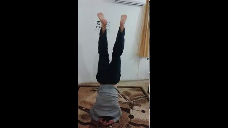 Headstand for perfect health and eyesight