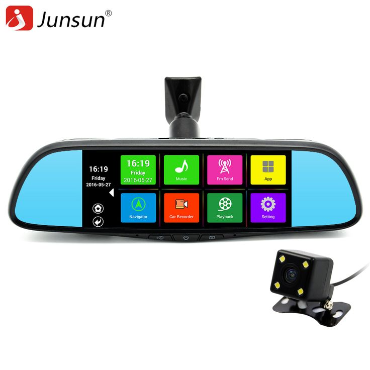 """Junsun 7"""" Touch Special Car DVR Camera Mirror GPS Bluetooth 16GB Android 4.4 Dual Lens FHD 1080p Video Recorder Dash Cam -- Details on product can be viewed by clicking the image"""