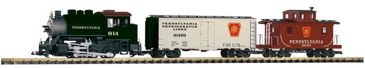 Piko 38103-PRR-Freight Starter Set. With circle of track and transformer. 1:29. $350.