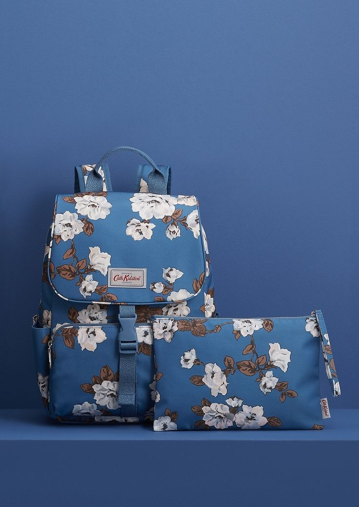 Our classic floral print meets a new colour wheel, the backpack is perfect for work, school or adventures! Did we mention there is also a clutch bag in the same shade of blue. We're undecided if we're going to use it to carry our make-up or just for a few key items we want to keep in one organised place.