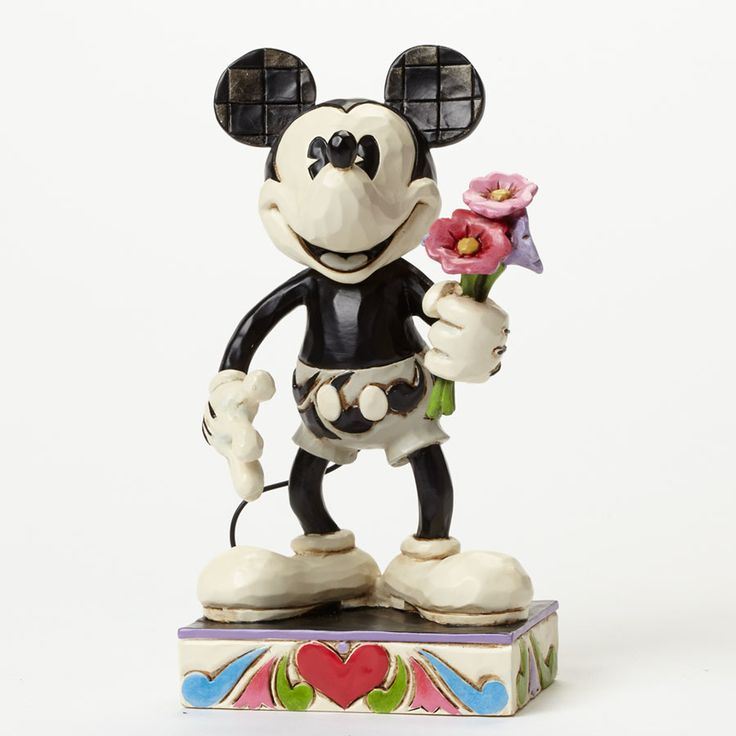 Disney Traditions Black and White Mickey For My Gal Resin Statue