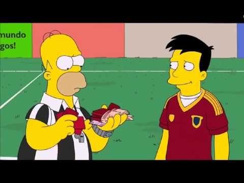 Los Simpsons  Mundial 2014, Brasil Vs  España