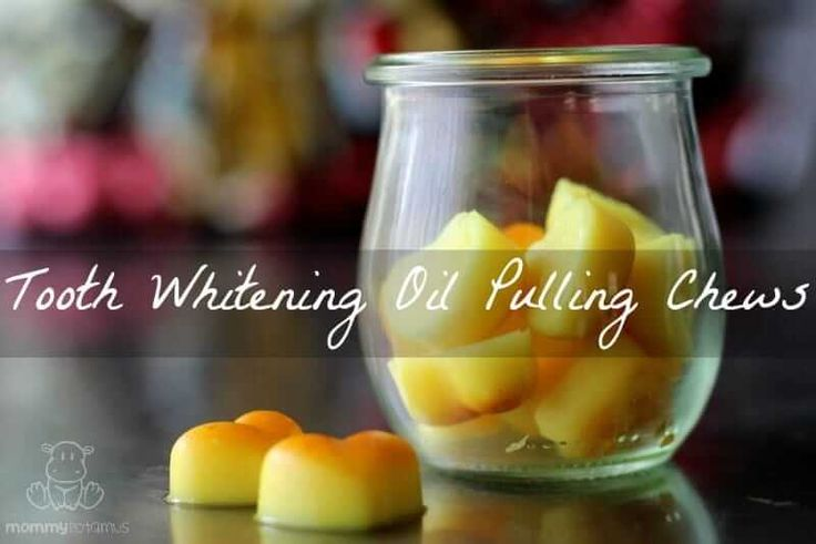 Coconut Oil Pulling Chews With Teeth Whitening Turmeric