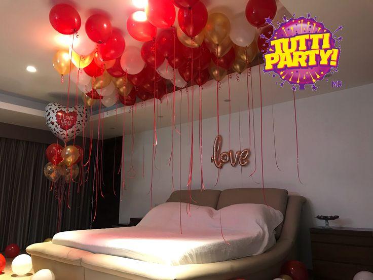 Cuartos decorados de san Valentín, sorpresas del día del amor, decoración de cuartos sorpresa Playa del Carmen, Riviera Maya www.tuttiparty.mx