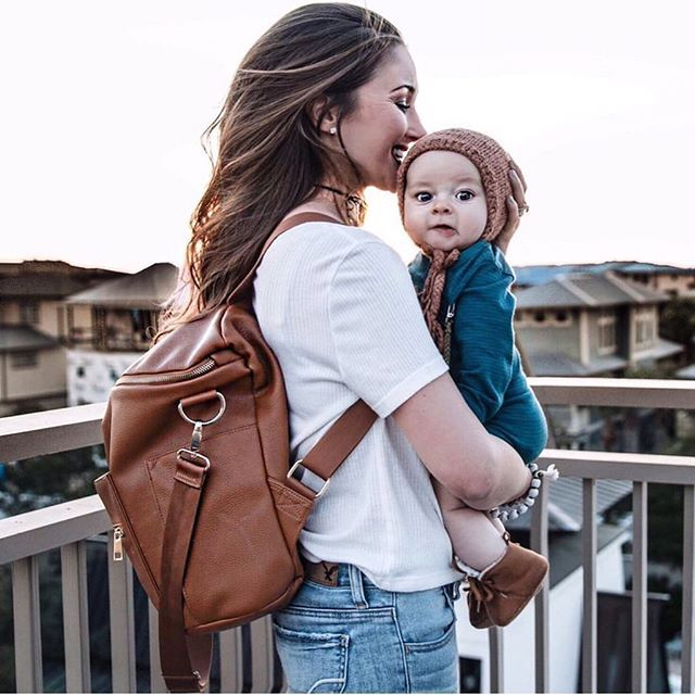 Fawn Design Diaper Bag Or Anytime These Bags Can Be Worn As Messenger A Backpack They Are Faux Leather On The Outside Wel