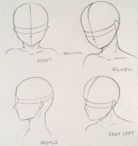 Arten von Gesicht posiert, um Manga zu zeichnen – …