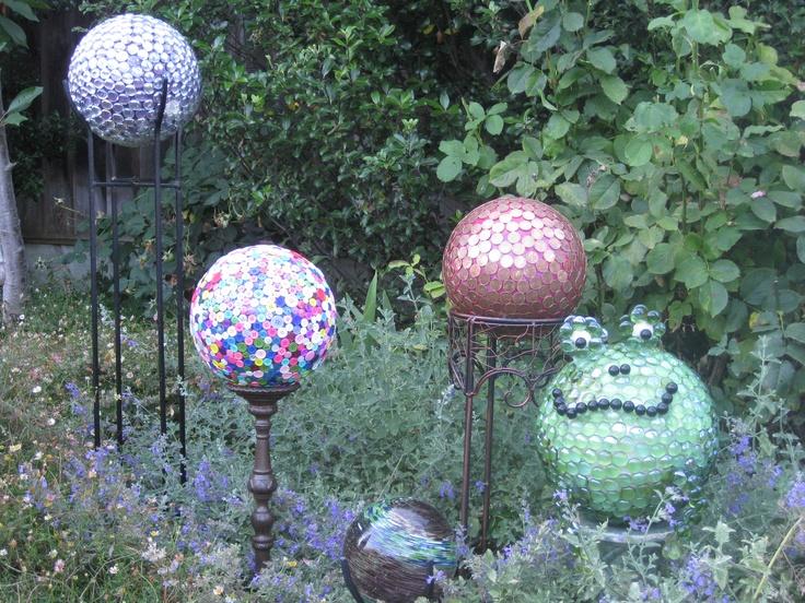 patterns for gazing balls 207 best spheres images on pinterest garden ideas garden crafts