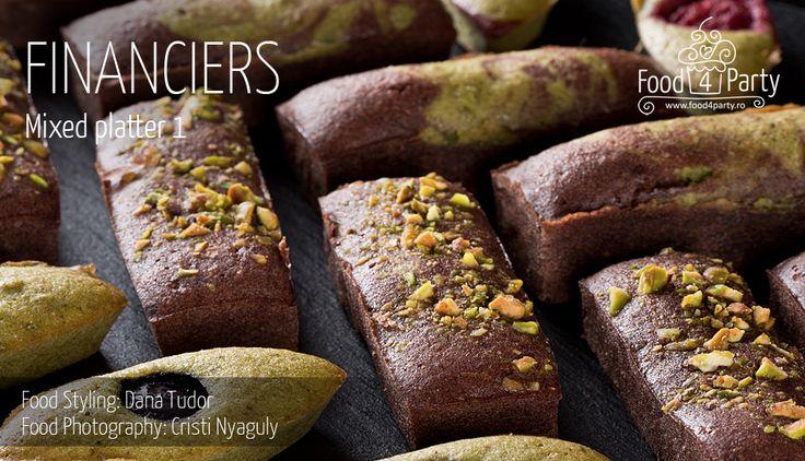 Financiers mixed platter cocoa matcha pistachio