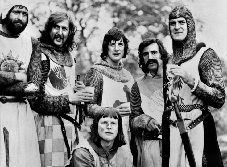 Monty Python's Flying Circus:   Graham Chapman, Eric Idle, Michael Palin, Terry Jones, John Cleese, and Terry Gilliam--a British comedy phenomenon.  LOVE it (my husband thinks I'm nuts).