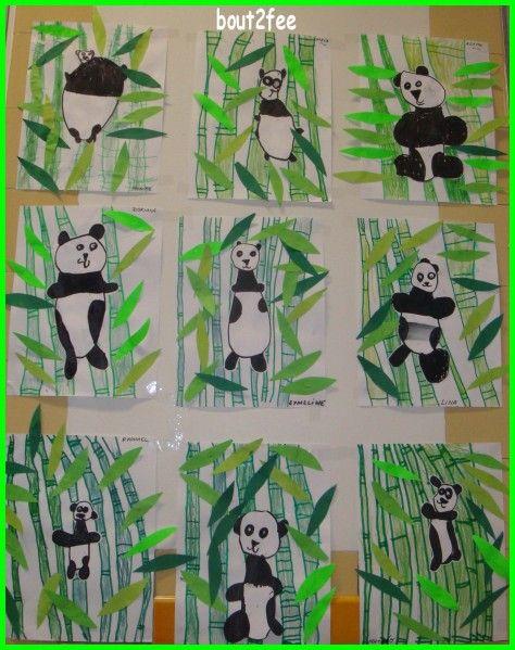 y ajouter la notion de bambous devant le panda