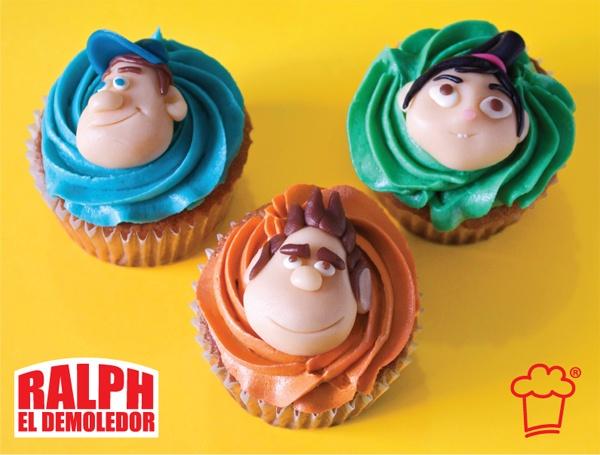 "Cupcakes de Petit Cake de ""Ralph El Demoledor"""