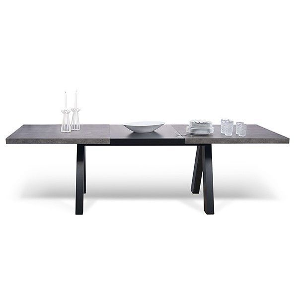 Superb Tables De Salon Design #8: APEX, Table De Salon Compacte Ou Extensible : Aspect Béton Ou Chêne Sauvage  - Designer