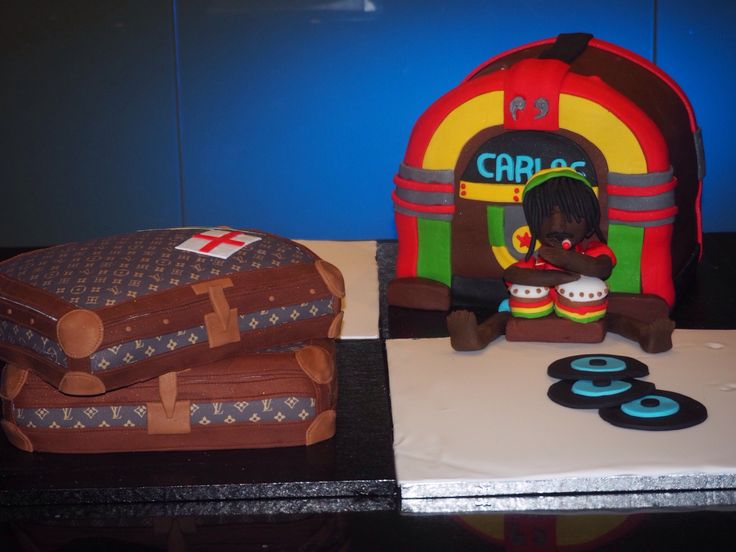 Louis Vuitton and jukebox cake