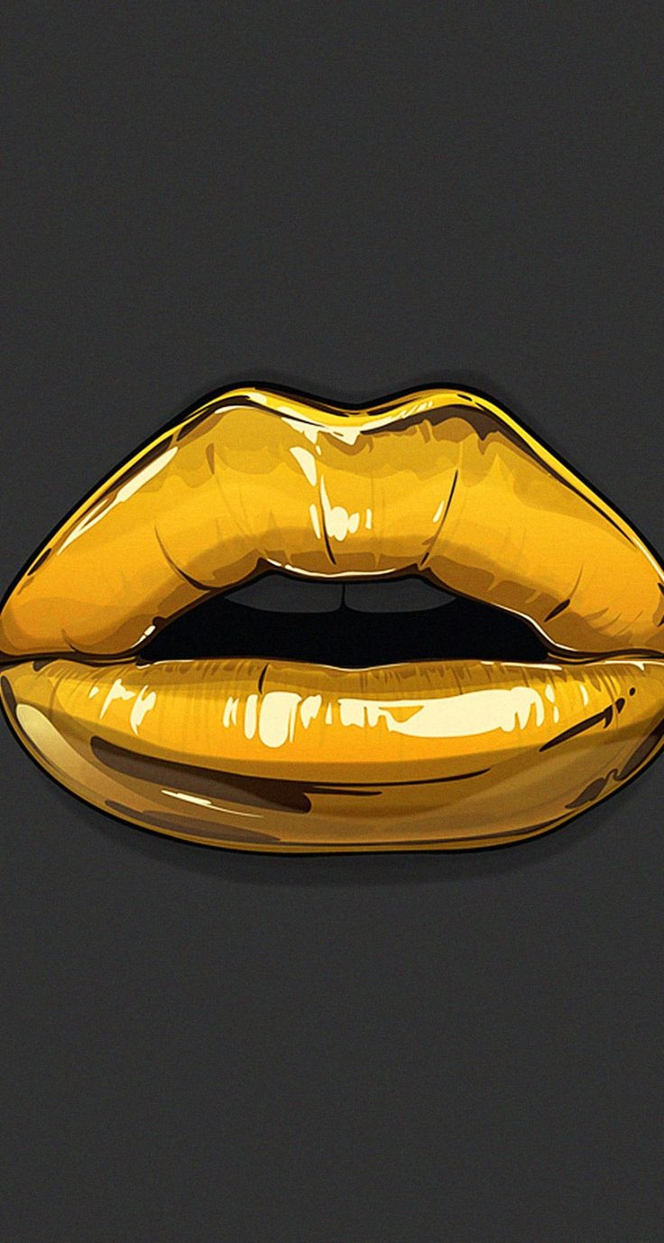 Iphone 6 wallpaper tumblr gold - Gold Lips Illustration Goldie By Gerrel Saunders