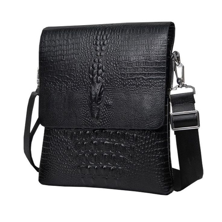 NEW Vertical high quality men business casual alligator bag Messenger crocodile