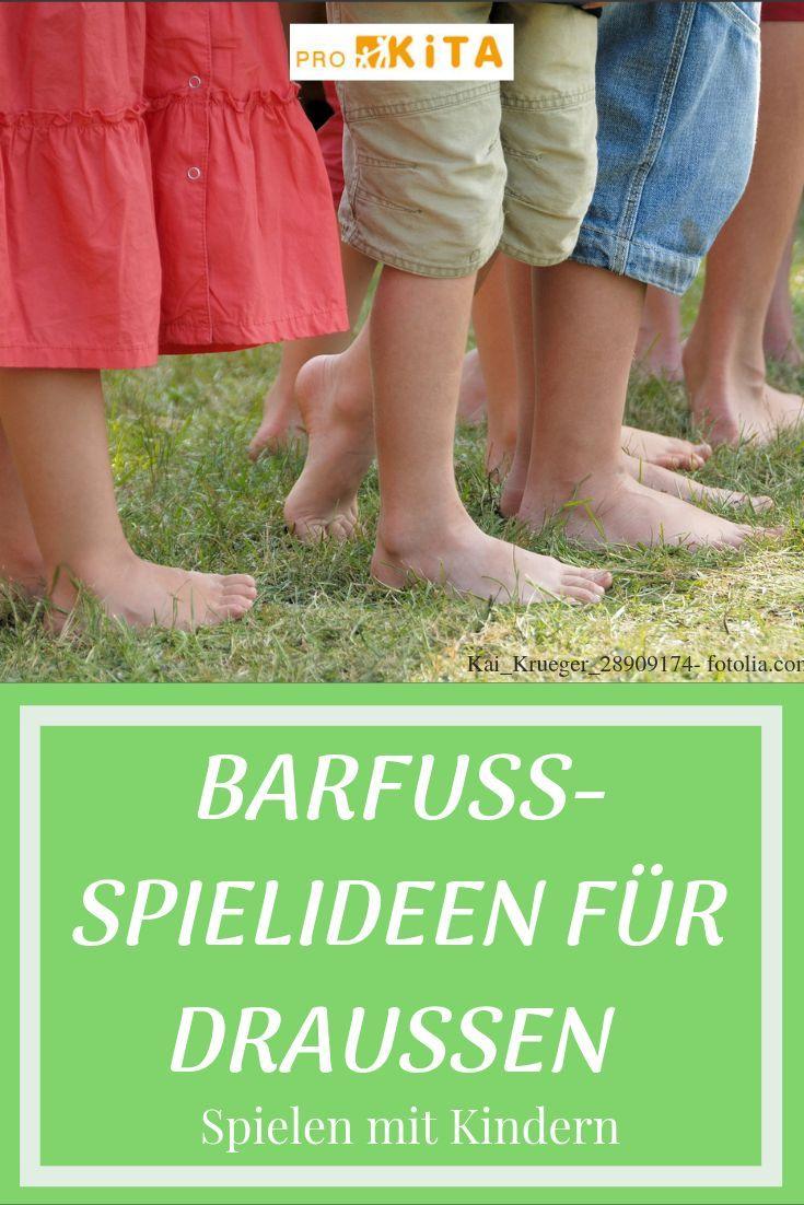 Barfuß Spiel Für Kinder Als Tausend Barfüßer Durch Den Garten Spiele Für Kinder Kinder Spielideen