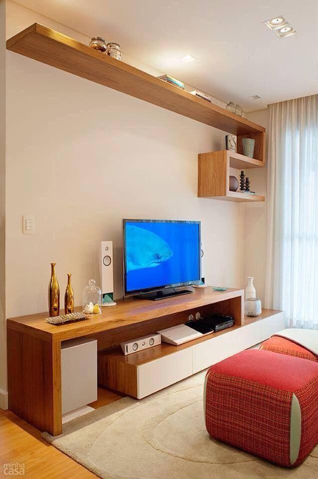 Sala de estar de ap pequeno , mas muito organizado - Revista Minha Casa
