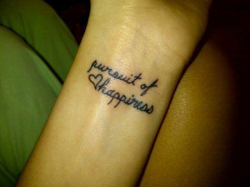 """""""Pursuit of happiness"""""""