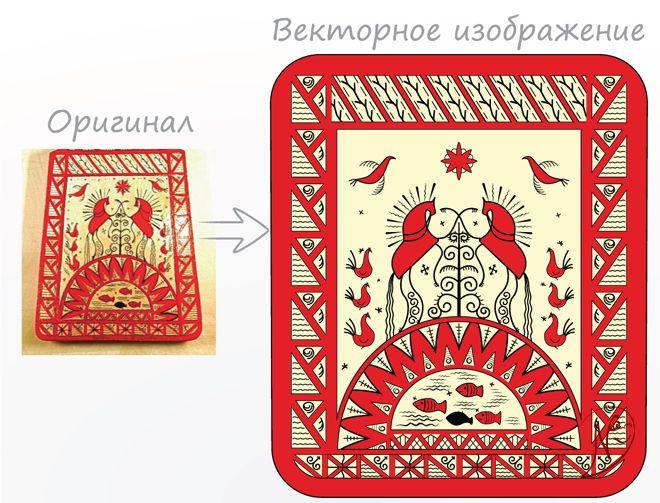 Мезенская роспись   Портфолио   Ш. Иван (NickShiv)