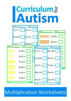 math worksheet : 56 best times tables activities for students with autism and  : Math Worksheets For Special Education Students
