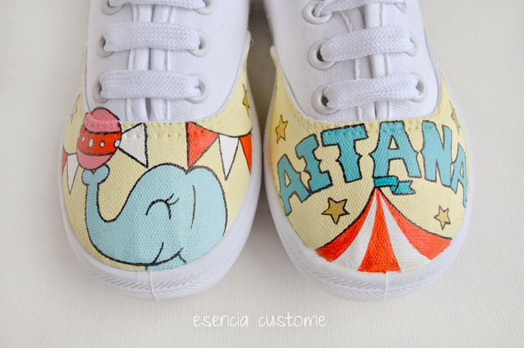 "Esencia Custome: Zapatillas personalizadas - Custom sneakers ""Circus, circus"""