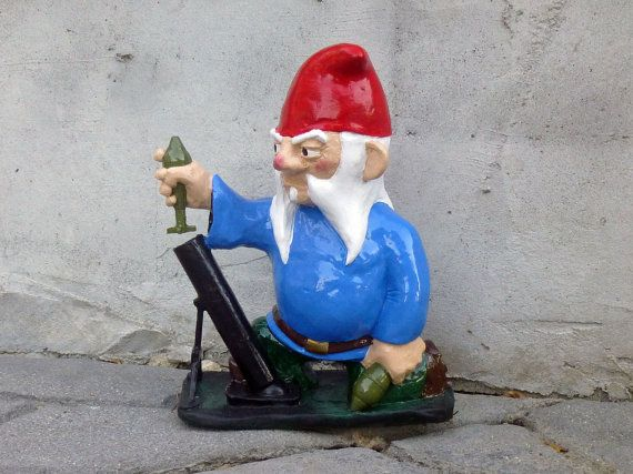 Combat Garden Gnome With Mortar Launcher By Thorssoli On Etsy, $68.00 Part 9