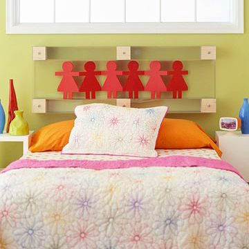 Adorable Doll Headboard For Girls Bedrooms! All You Need To Get This Look  Are Wooden