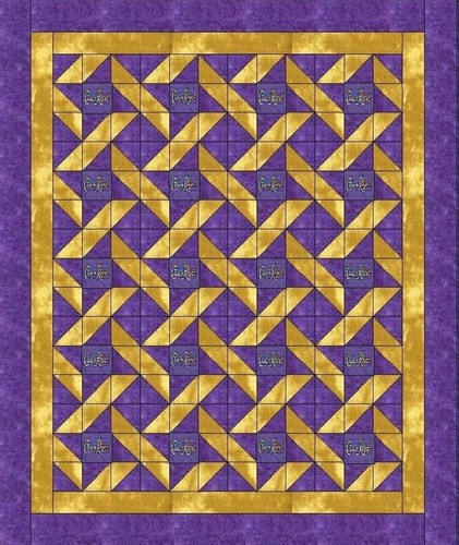 Crown Royal Friendship Star Quilt ...Garnet and Gold for Florida State University?.....vwr