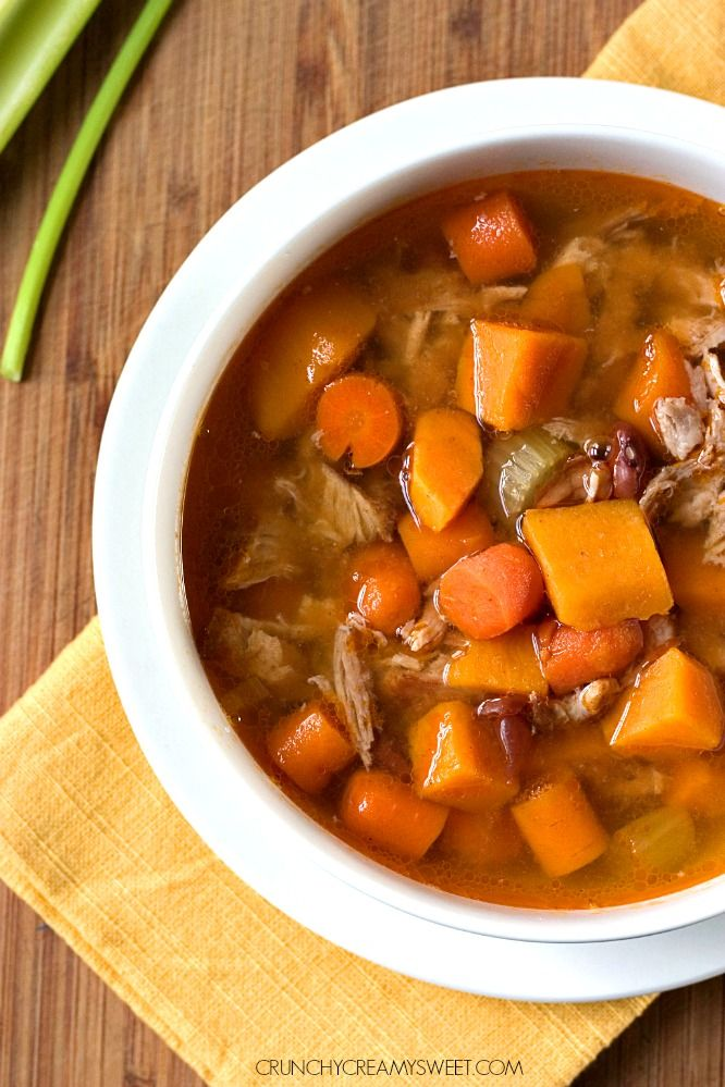 Slow Cooker Sweet Potato Pork Stew