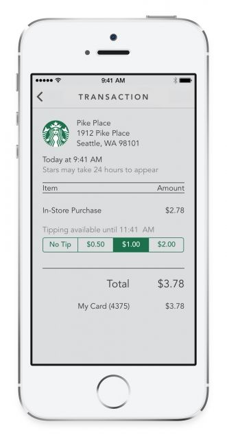 Starbucks App to Get Digital Tipping and 'Shake to Pay' Features