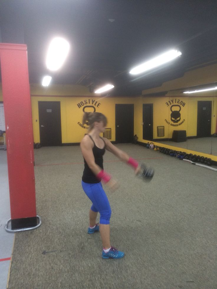 Renee snatches with her new wrist guards
