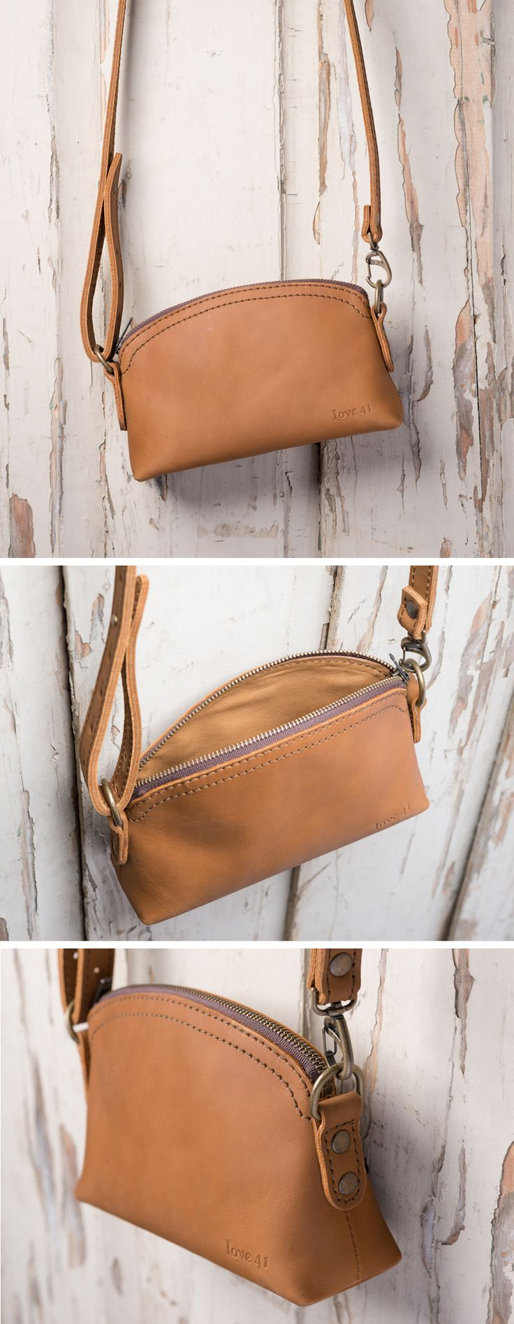 """I wanted a make up bag that wasn't made out of plastic or looked like it belonged to my daughter.  This bag not only looks grown up and sophisticated but the fact that it can be converted into a small purse makes it a """"must have"""" make up bag. Leather Cosmetic Bag by Love 41."""