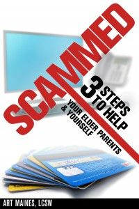 Scammed by Art Maines- non-fiction.  Stopped seniors from getting scammed!  Book Bloggers needed.