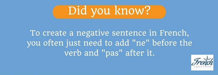 Discover how to easily create negative sentences in French!