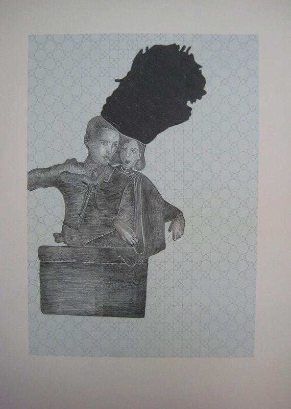 """Μαρία Λοϊζίδου, Χωρίς τίτλο, σειρά """"Memoscapes"""", 2012 μολύβι σε χαρτί, 40 x 30 εκ, KALFAYAN GALLERIES (Αθήνα-Θεσσαλονίκη)"""