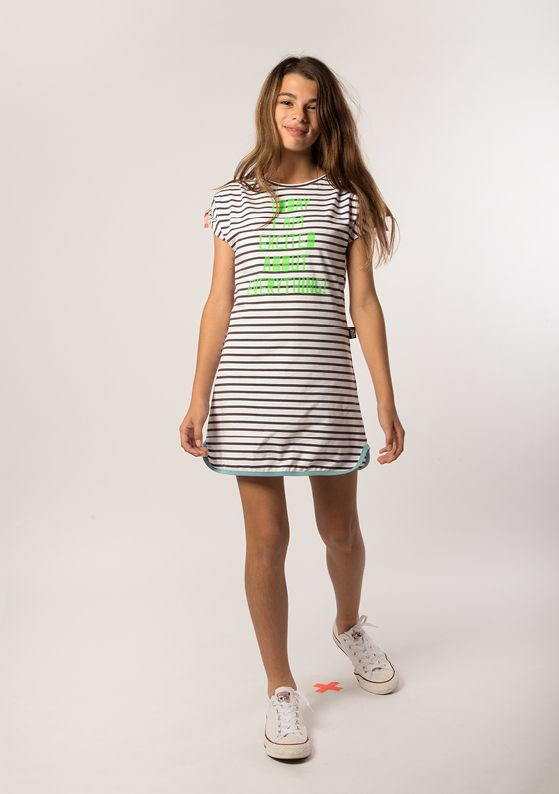 Dress - Ties: Indigo + Pure White