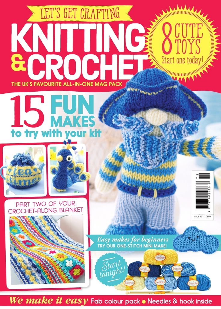 Knitting And Crochet Magazine : Best lgc knitting crochet issues images on pinterest