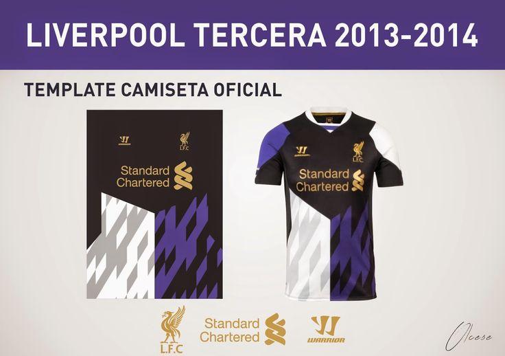 Diseños, Vectores y Templates para Camisetas de Futbol: LIVERPOOL TERCERA CAMISETA THIRT T-SHIRT  VECTOR