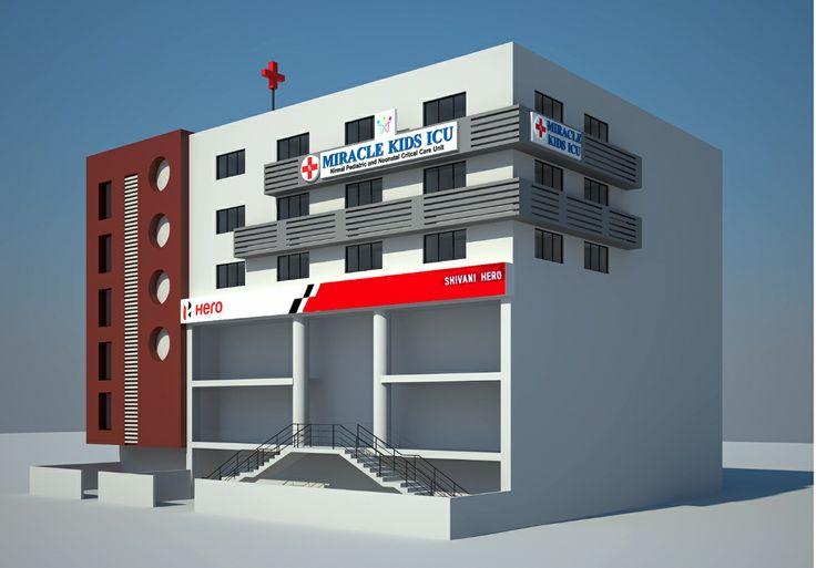 Front Elevation Designs For Building : Hospital elevation design d max