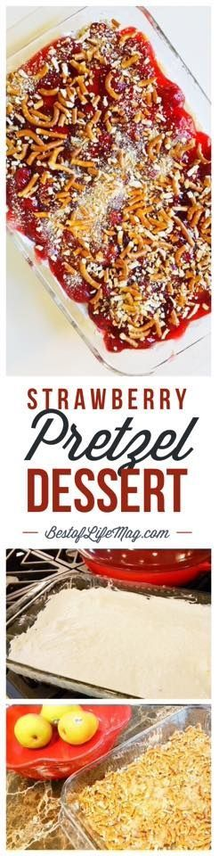 This strawberry pretzel dessert is a little sweet and a little salty... which means it's delicious!