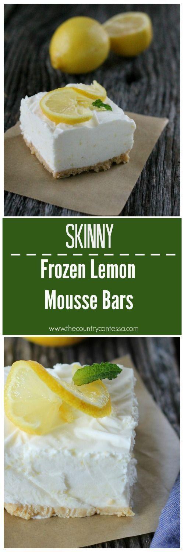 Skinny Lemon Bars Recipe Healthy choices Desserts