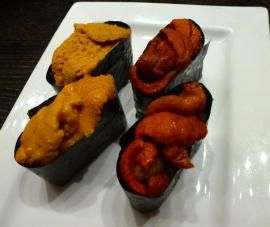 Japanese and local uni (sea urchin) Supping Away Las Vegas: Nobu at Caesar's Palace | Review From The House
