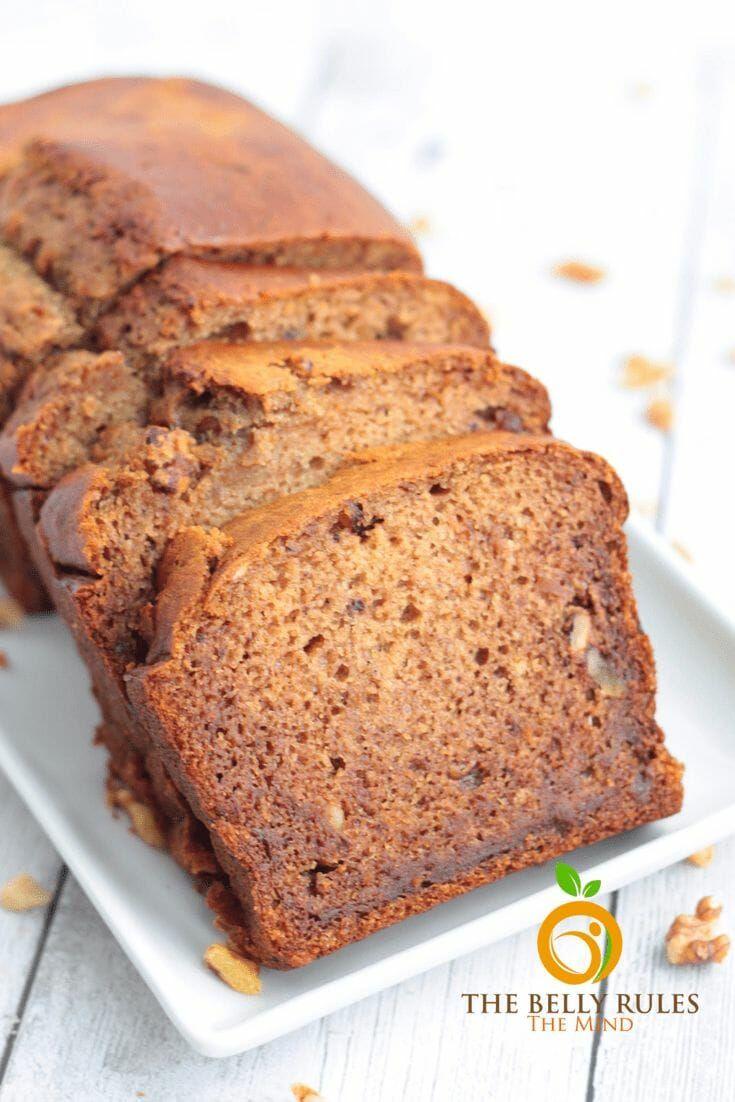 Date walnut loaf cakenoeggnobutter no refined