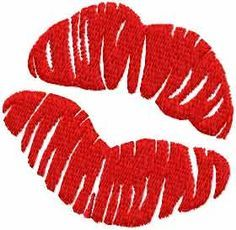 Kiss free embroidery design 2 - Valentine's Day - Machine embroidery forum