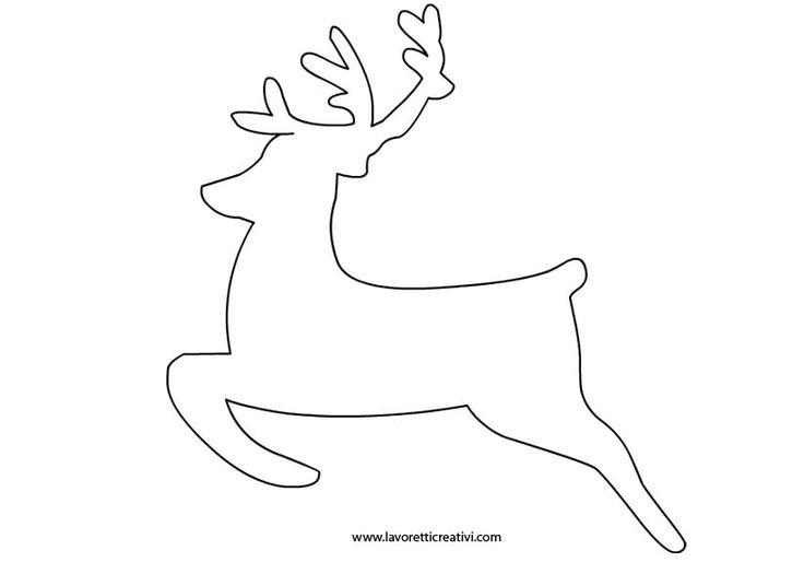 SAGOME DI NATALE Sagome di renna per realizzare con i cartoncini decorazioni da attaccare alle porte e ai vetri delle finestre di casa o da usare come segnaposti per abbelliere la tavola.