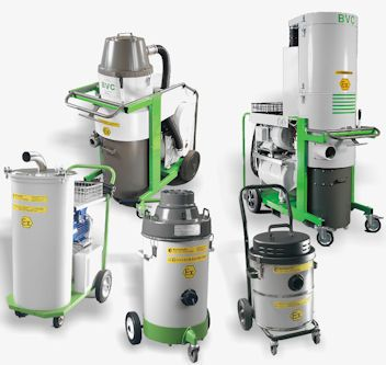 Quirepace are specialists in the supply of ATEX compliant industrial vacuum cleaning machines. Within the BVC range of Industrial Vacuum Cleaners, several models can be supplied as ATEX compliant. Our range of industrial cleaning machines includes both compressed air and electric driven industrial vacuum cleaners that are compliant with ATEX Dust and Gas standards (G1/D21 and D22)