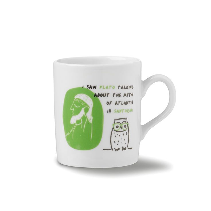 Mug Santorini: I saw Plato talking about the myth of Atlantis in Santorini!